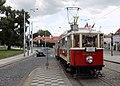 Nostalgic tram in Prague.jpg