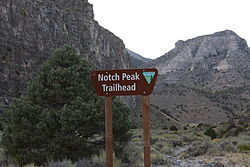 Notch Peak Utah Trailhead September 2013.JPG