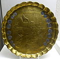 Notgeld (emergency money) plate with caricature of August Merges and Minna Fasshauer, 1925 AD, brass - Braunschweigisches Landesmuseum - DSC04896.JPG