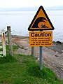 Notice on the shores of Loch Ryan - geograph.org.uk - 164304.jpg