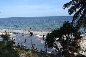 Nyali Beach from the Reef Hotel during high tide in Mombasa, Kenya 34.jpg
