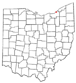 Location of Bratenahl in Ohio