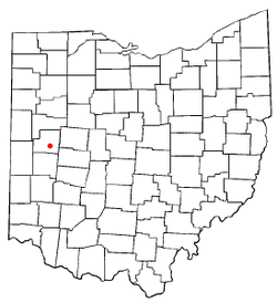 Location of Sidney, Ohio