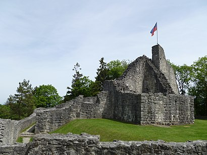 So kommt man zu Obere Burg Schellenberg mit den Öffentlichen - Mehr zum Ort Hier
