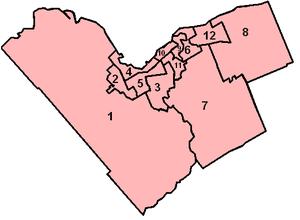 Ottawa municipal election, 2010 - OCDSB Zone Map