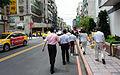 Officers Walking on Jinzhou Street, Taipei in Lunch Time 20150901.jpg