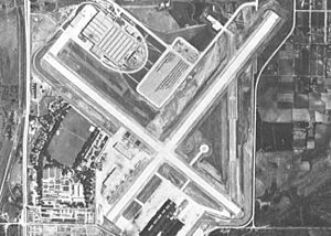 Offutt Air Force Base - Offutt in the mid-1940s as a war production plant for the Glenn L. Martin company.