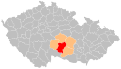 District location in the ویسوچیانا علاقہ within the چیک جمہوریہ