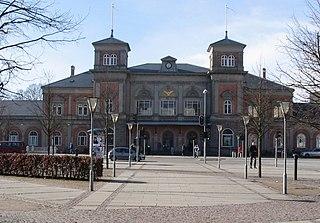railway station in Aalborg Municipality, Denmark
