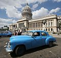 Old US car in Havana outside the Capitolio - Flickr - exfordy.jpg