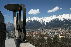 Tyrol (state) - Innsbruck, a view from Mt. Bergisel.