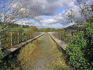 Leaderfoot Viaduct - The disused trackbed