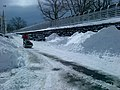 On February 9, 2013, Metro-North Railroad employees battled snow accumulations of up to three feet on the New Haven Line IMG-20130209-00037 (8459342774).jpg