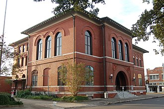 Opelousas, Louisiana - Old Federal Courthouse in Opelousas, listed on the National Register of Historic Places