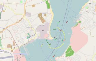 Kieler Förde - Kiel Fjord between Laboe and Mole Stickenhörn (nautical chart)