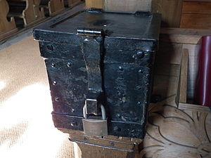 Poor box - Mite box in the St.-Gallus-Kirche in Ladenburg, Germany