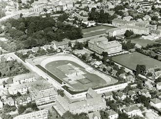 Ordrup - Ordrup Velodrome and Ordrup School in 1956