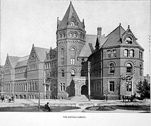 Josephus Nelson Larned - Buffalo Library, designed by Cyrus L. W. Eidlitz and opened in 1887
