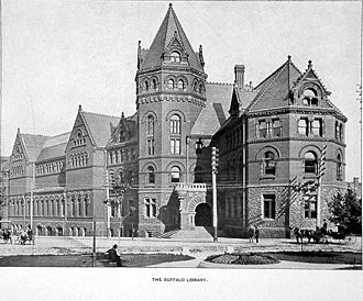 Buffalo & Erie County Public Library - Buffalo Library, designed by Cyrus L. W. Eidlitz and opened in 1887
