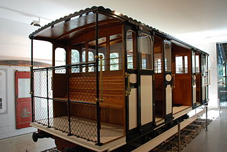 Wellington Cable Car - Car 3, restored for display in the museum