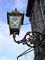 Ornamental bracket and lamp at Langholm - geograph.org.uk - 603833.jpg