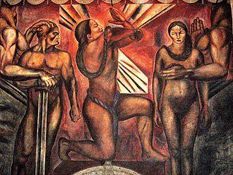"""José Clemente Orozco - Mural """"Omnisciencia"""", 1925"""