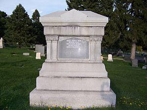 Orson Pratt - Back view of grave marker of Orson Pratt.