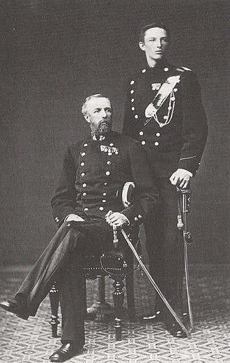 Prince Carl, Duke of Västergötland - King Oscar II of Sweden and his son Carl, Duke of Västergötland, 1879.