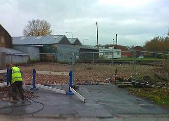 Oswaldtwistle - Oswaldtwistle Fire Station being demolished (2008)