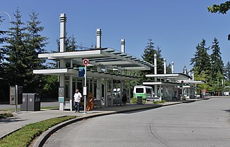 Overlake Transit Center - The former bus bays at Overlake Transit Center, closed in 2017