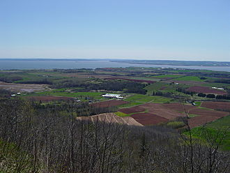 Minas Basin - A view of the Southern Bight of the Minas Basin from The Lookoff.