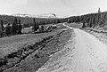 På vägen till Ankarede, i riktning mot Blåsjön. Norskfjället Joma i mitten på bilden. Bildiligenslinjen Strömsund - Jormlien. Mitten av 1930-talet.jpg