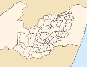 Santa Maria do Cambucá - Location of Santa Maria do Cambucá within Pernambuco.