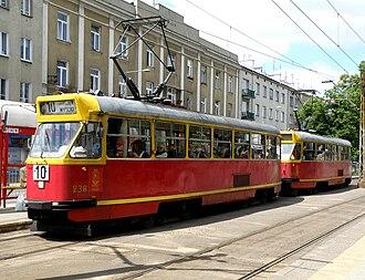Konstal 13N - Image: PL Warsaw Konstal 13N tram
