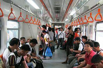PNR Metro South Commuter Line - Inside a PNR Hyundai Rotem DMU Metro Commuter train
