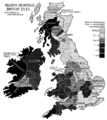 PSM V52 D174 Relative brunetness of the british isles.png