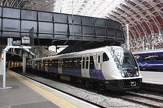 British Rail Class 345 - Unit 345015 at Paddington station (May 2018)