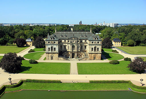 Palais im Großen Garten Tiefflugbild 2