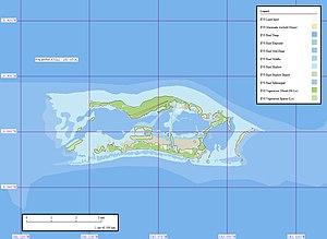 Karte des Palmyra-Atolls