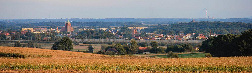 Panorama Chojnowa ze wzgórza w Jerzmanowicach