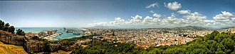Gibralfaro - Image: Panoramic Malaga