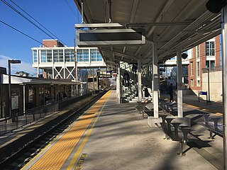 Paoli station train station in Paoli, Pennsylvania