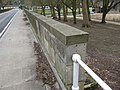 Parapet with a bench mark - geograph.org.uk - 1771975.jpg