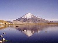 Lago Chungará y Volcán Parinacota