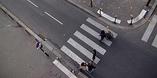 Zebra crossing type of pedestrian crossing