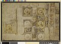 Parmigianino - Design for the decoration of the vaulting of S Maria della Steccata, Parma; square and oval panels with figures and circular decoration Pen and brown ink, grey and yellow wash, 1918,0615.3.jpg