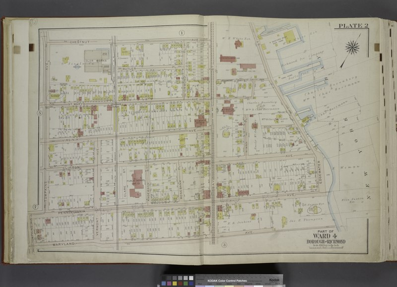 File:Part of Ward 4. (Map bound by Chestnut Ave, Bay St (New York Ave), Sylvaton Ter., Edgewater St (Bay St), Bulkhead Line, Maryland Ave, Tompkins Ave, Pennsylvania Ave) NYPL1646269.tiff