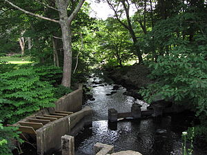 Paskamanset River - Paskamanset River in Russells Mills Village