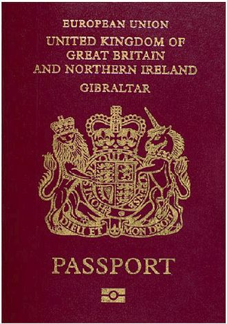 "History of nationality in Gibraltar - Gibraltar biometric passport, issued since 2007. Passports issued since 1988 have a similar format, but until 1997 had the words ""European Community"" written in place of ""European Union"" (Crown copyright)."