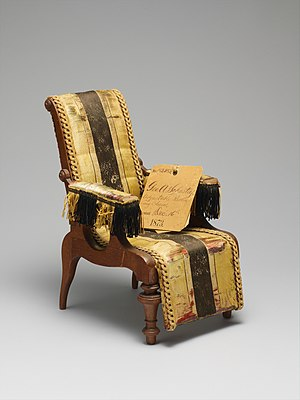 George A. Schastey - Image: Patent model for adjustable reclining chairs MET DP216175